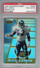 Ray Lewis 1996 Bowman's Best Refractor #164 Rookie Card PSA 8 Baltimore Ravens