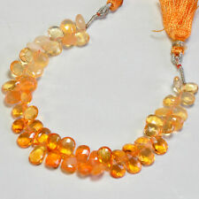 """Shaded Mexican Fire Opal Faceted Pear Briolette Beads 5.8"""" Strand"""