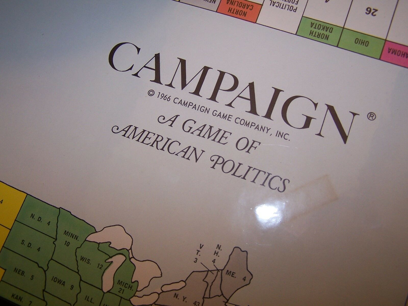 Campaign A A A Game of American Politics 1966 never played RARE GAME fb90fd