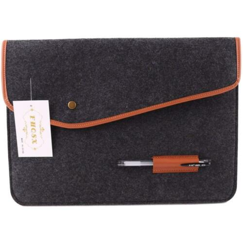 Felt Laptop Sleeve for 13 Inch Macbook Air//13 5 Inch Surface Book 2//Dell 12.3/'/'