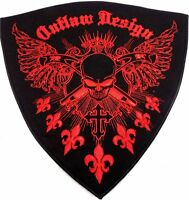 Outlaw Design Red 12x12 Motorcycle Mc Biker Back Patch Hey-0103