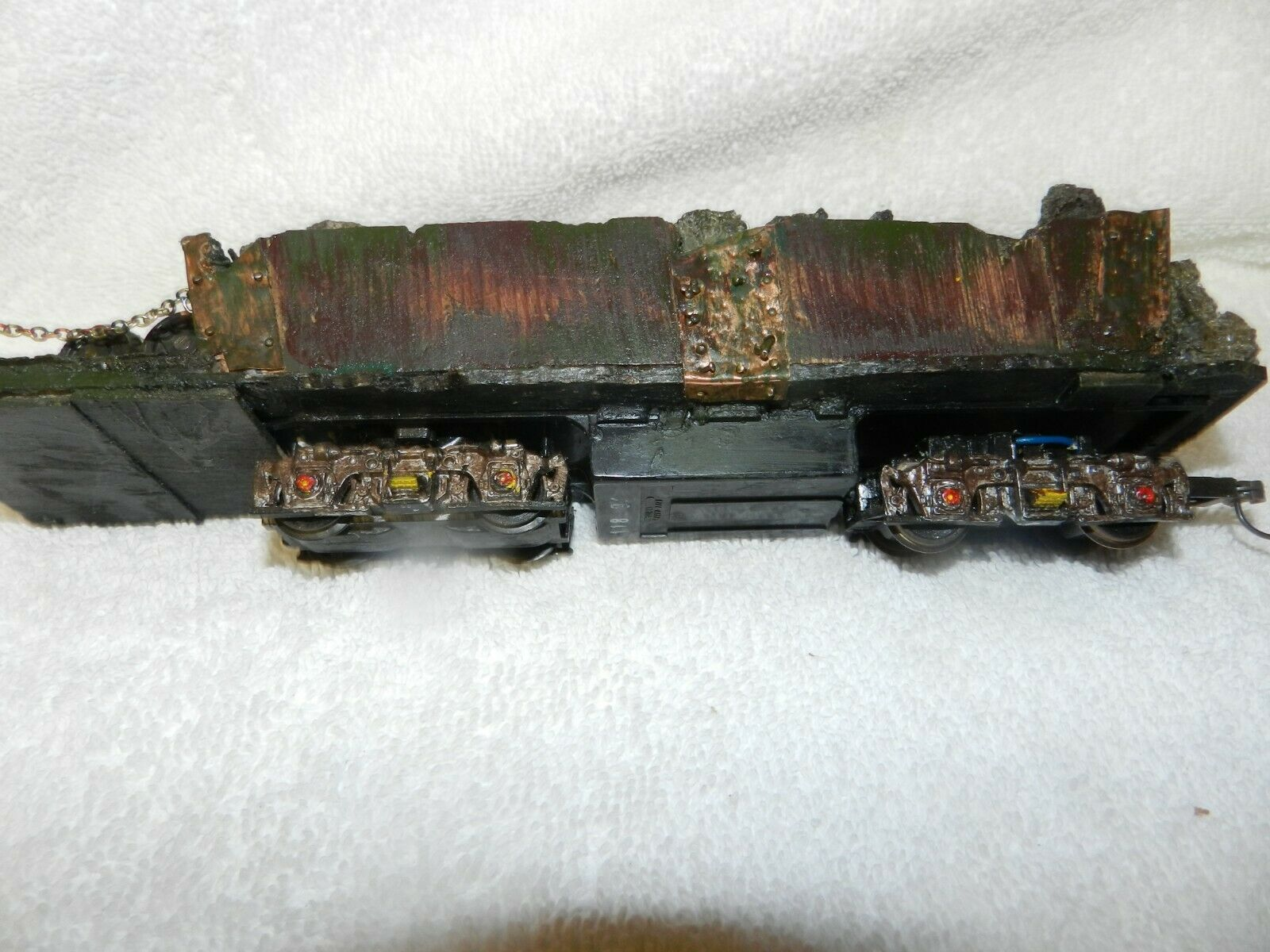 J & L HOT SLAG CAR MOTORIZED WITH  GLOWING EMBER - On 30  SCALE - ONE OF A KIND