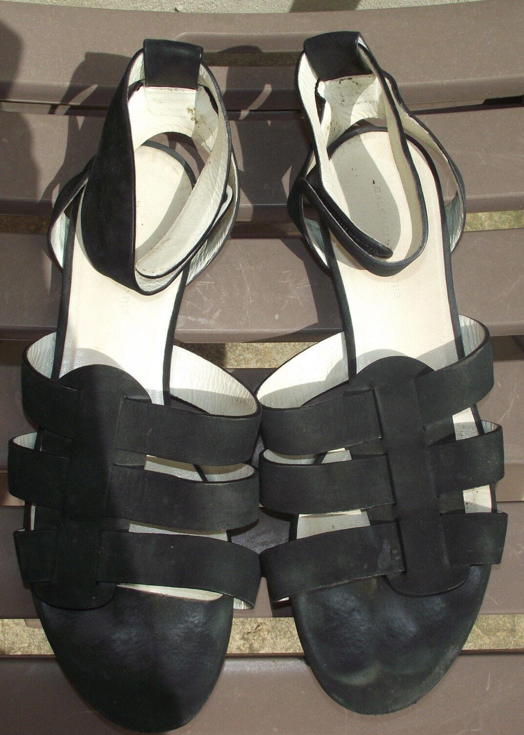 ° BALENCIAGA °- Sandales spartiates black pointure 37