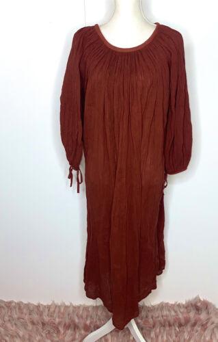 Vintage 70s AMERIKAN CLIMAX Maxi Kaftan Dress Cott