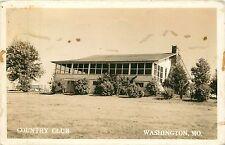 Missouri, MO, Washington, Country Club 1944 Real Photo Postcard