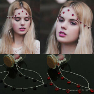 Women-Chic-Metal-Rhinestone-Metal-Head-Piece-Chain-Jewelry-Headband-Hair-Band
