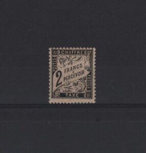 FRANCE-STAMP-TIMBRE-TAXE-N-23-034-TYPE-DUVAL-2F-NOIR-034-NEUF-xx-TTB-RARE-T315