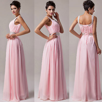Elegant Wedding Evening Party Formal Ball Prom Gown Bridesmaid Lady Long Dress 1