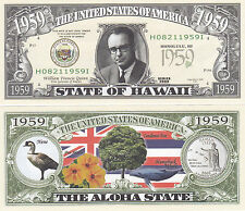 Two Hawaii HI State Quarter Novelty Money Bills # 149