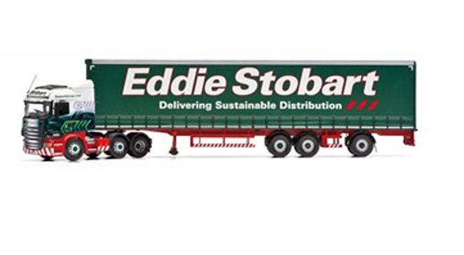 Cc13747  CORGI 1 50 scania r (face lift) super-coulissantes planifier-voitureavane Eddie stobar  le dernier
