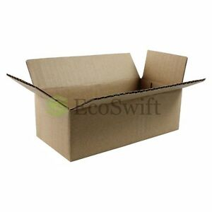 50 12x6x4 Cardboard Packing Mailing Moving Shipping Boxes Corrugated Box Cartons