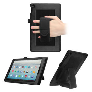9de90477dacb6 Details about For Amazon Fire HD 10 7th Gen 2017 Tablet Case Back Cover  Stand with Hand Strap
