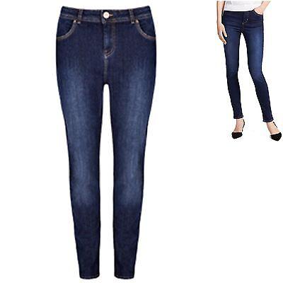 M&S Per Una Jeans sz 16 Perfect Sculpt Slim Leg with Stretch On Waist Indigo New