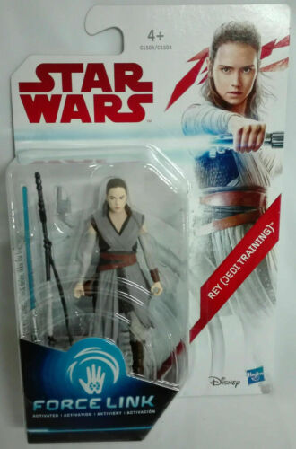 1 Action Rey Jedi Training Star Wars Force Link 9,4 cm Gli utlimi Jedi Clone