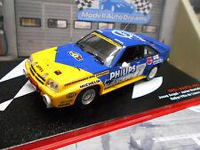 OPEL Manta B 400 Rallye Spain Llanes #6 Arque Philips 1986 Hella IXO Altaya 1:43