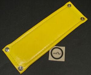 vintage yellow vinyl frame pad old school bmx NOS