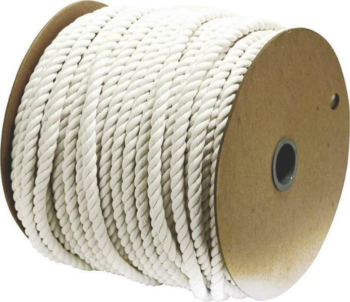 NEW WELLINGTON 11298 3 4  X 350' LARGE SPOOL  COTTON TWISTED ROPE 6691356  not to be missed!