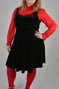 47385a94eab Womens Plus Size Black Velvet Dress Size 20 22 24 Skater Style ...