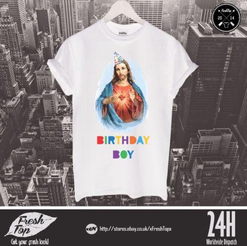 Jesus Christ Birthday Boy T Shirt Merry Christmas Funny Happy Holiday Gift