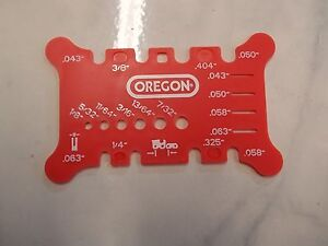 Oregon-OCS556418-chainsaw-chain-tool-checks-Pitch-and-Gauge-on-bar-and-file-size