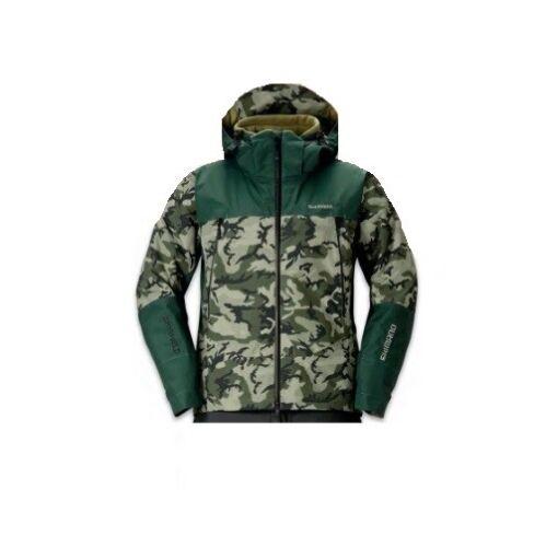 XL Winterjacke Thermojacke Angelsport Shimano DS Advance Warm Jacket Olive Safari Camo Gr