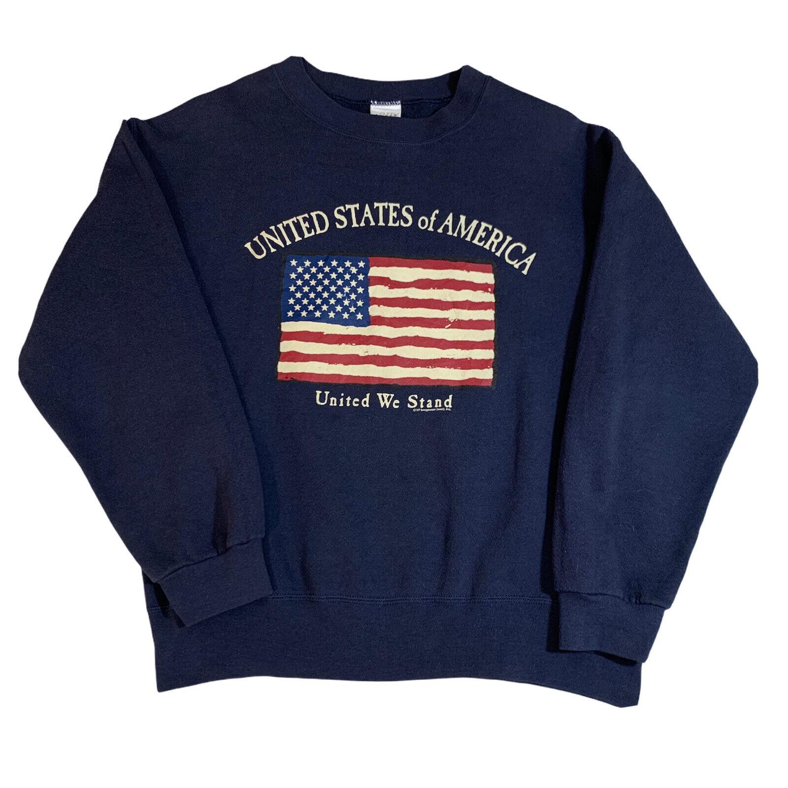Vintage United States of America United We Stand Sweatshirt - Medium - 90s