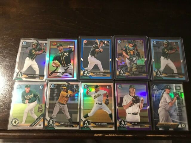 2019 Bowman Chrome Draft - Logan Davidson 1st + Oakland A's Chrome Lot - Luzardo