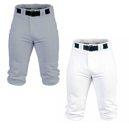 White /& Grey Rawlings Premium Knicker Adult Mens Baseball Pant