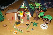 Playmobil 4207 + 4208 Forsthaus + Hochsitz + Figuren + Tiere Konvolut I