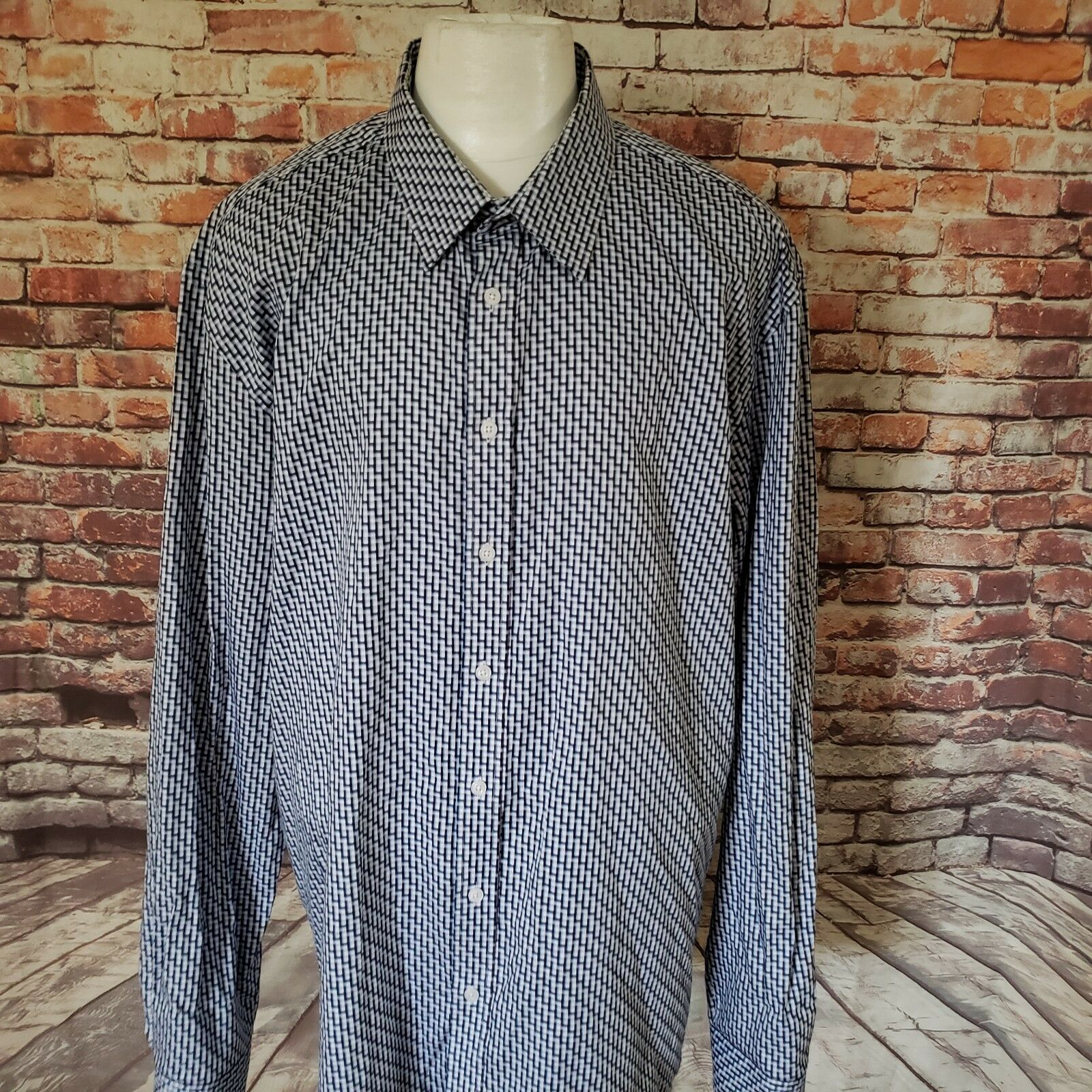 PRONTO men COTTON LONG SLEEVE CASUAL SHIRT SIZE 3XLT  A69-30