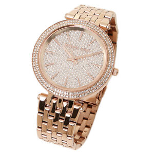 1d1609393a8a1 MICHAEL KORS MK3439 DARCI ROSE GOLD CRYSTAL PAVE DIAL WOMENS WATCH ...