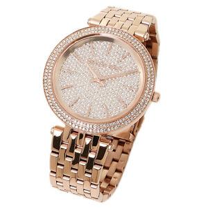 MK3439-oro-rosa-Michael-Kors-Cuadrante-de-Cristal-Pave-Darci-Reloj-para-Mujeres-RRP-309