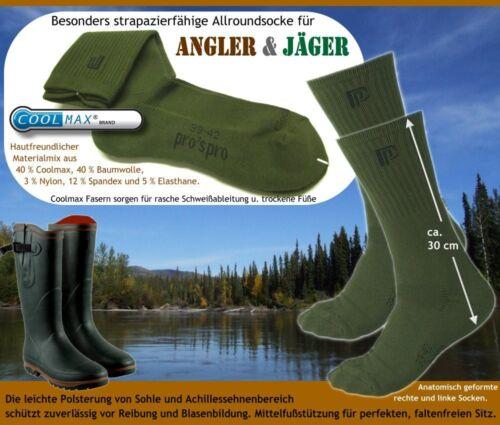 avec 40/% Coolmax! chasseurs Chaussettes Angel -//chasse-Chaussettes Valve Angler Chaussettes