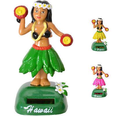 Wackel Hulamädchen Wackelfigur mit Solarzelle Tanzende Hawaiianerin Solarfigur