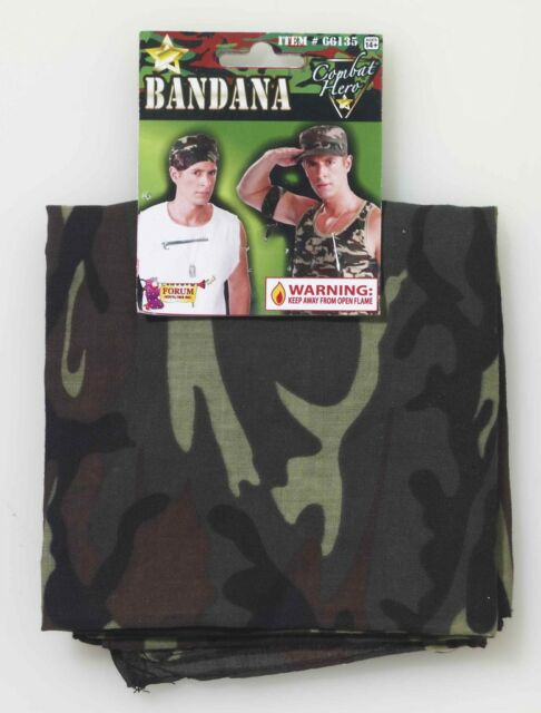 Army Soldier Military Camouflage Camo Combat Bandana Head Costume Accessory NEW