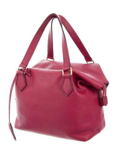 Authentic FENDI soft leather handbag satchel