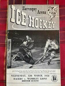 Harringay Arena Ice Hockey Programme 12/03/1958