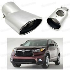 Silver Car Exhaust Muffler Tip Tail Pipe Trim for Toyota RAV4 2013-2015 #5021