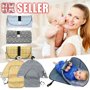 Waterproof-Baby-Diaper-Travel-Home-Change-Pad-Changing-Mat-3-in-1-Organizer-Bag