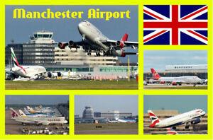 Souvenir Neuheit Kühlschrank-magnet Manchester Flughafen Sights Brandneu //