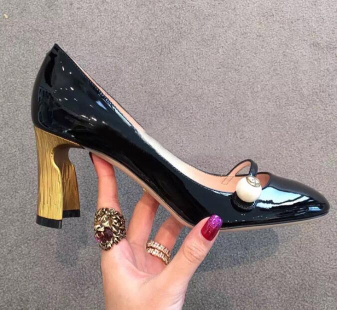 Europa Tobillo con Tiras Mujer Retro Charol Tacón Alto Zapatos Zapatos Zapatos de Tobillo con Tiras  tienda en linea