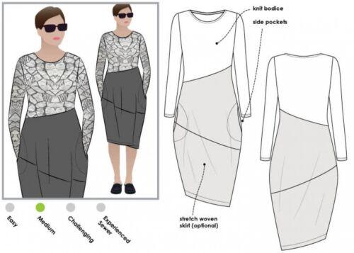 MLDK023S-M Free UK P/&P FP Style Arc Ladies Sewing Pattern Maisie Dress