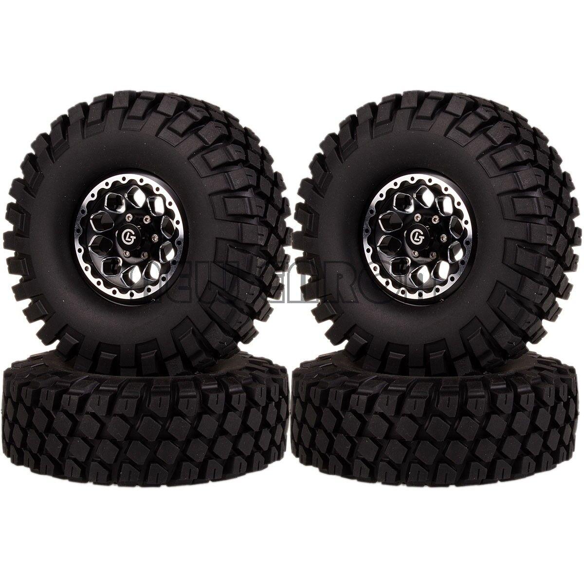 RC 1.9 de pulgada de aluminio beadlock rueda llanta neumático 1 10 Rock Crawler 1065-7038 112mm