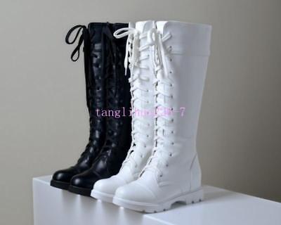 Knee High Boots Flat Low Heel | eBay