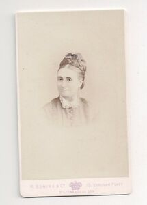 Vintage-CDV-Unknown-Victorian-Lady-R-Boning-amp-Co-Photo-St-Leonards-by-the-Sea