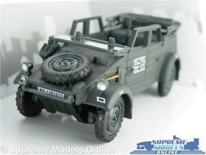 VW VOLKSWAGEN KUBEL WAGON TYPE 82 CAR MODEL 1:43 GREY ARMY MILITARY OPEN TOP T4