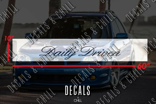 JDM Daily Driven v2 Sun Strip Visor Windshield Banner Decal Sticker