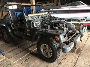 1998 Jeep TJ parts Jeep with  4.0 litre 5 speed