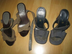 Lot de chaussures sandales mules uses P 36 well worn voir photos