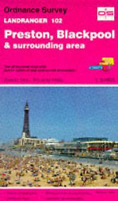 (Good)-Landranger Maps: Preston, Blackpool and Surrounding Area Sheet 102 (OS La